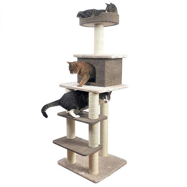 천연 사이잘 스크래쳐 고양이 미니 캣타워 2단 3단 4단 5단 놀이터