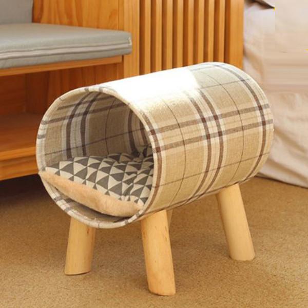 먼지없는 캣하우스 고양이 강아지 원통 침대 CTB