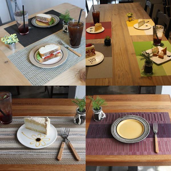 품격있는 식탁매트 비비드 컬러 테이블매트 세트