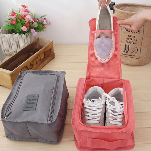 간편보관 휴대용 신발보관가방 신발파우치 장거리 이동 필수품
