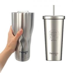 대용량 스텐 텀블러 KC인증 콜드컵 트윙고 빅컵 빨대컵 장시간 냉기유지