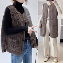 따뜻한 겨울 잇템 뽀글이조끼 빅포켓 덤블 여성 양털 조끼 베스트 BBEY